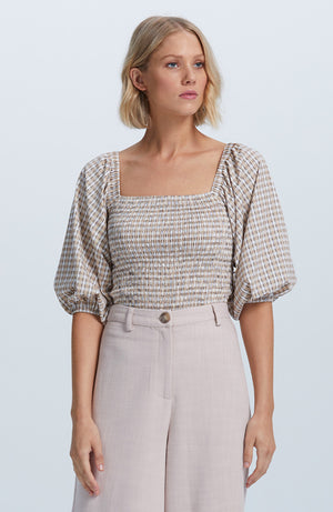 Josephine Shirred Blouse