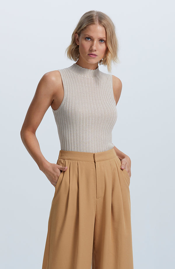 Shimmer Knitted Top