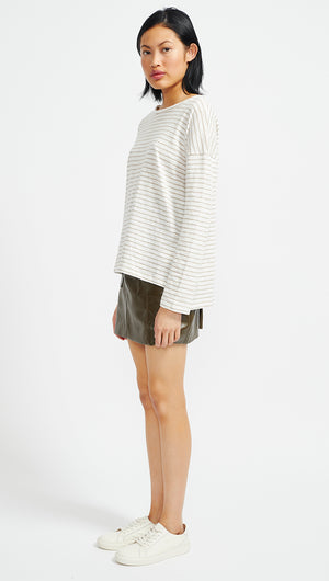 SLUBBY STRIPE LONG SLEEVE TEE