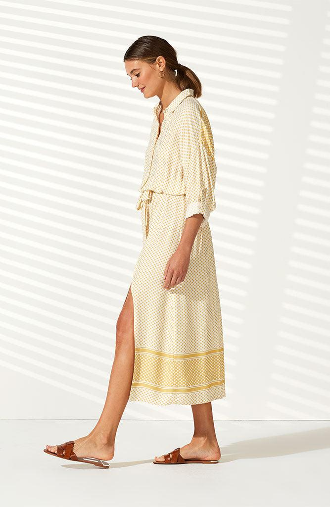 Tangier Maxi Shirt Dress