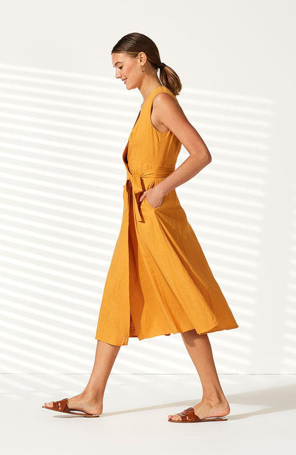 Golden Hour Wrap Dress