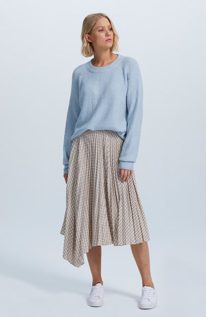 Josephine Pleated Midi Skirt