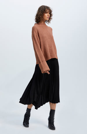Avery Pleated Midi Skirt