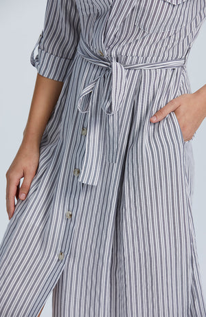 Borderline Midi Shirtdress