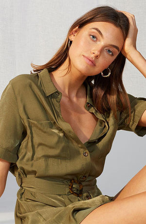 Odyssey Belted Shirt Dress