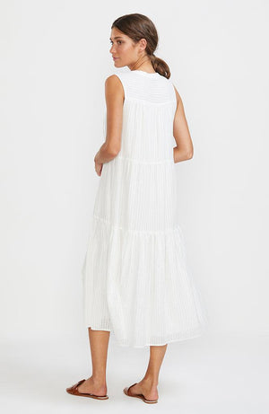 Illusion Tiered Midi Dress