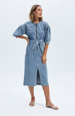 Jelena Denim Midi Dress