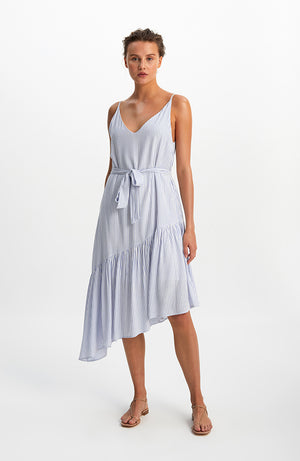 Allegra Ruffled Midi Dress