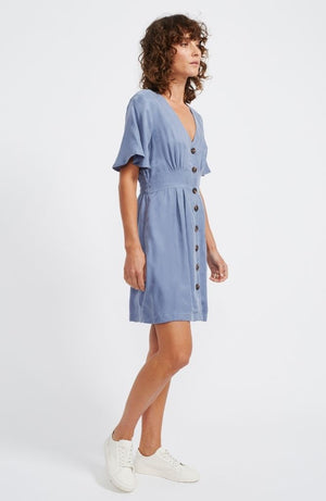 Verona Button Mini Dress