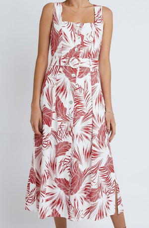 Paloma Belted Midi Dress