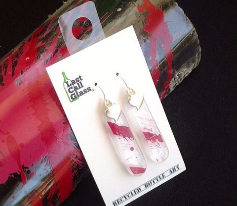 Absolut Raspberry Earrings