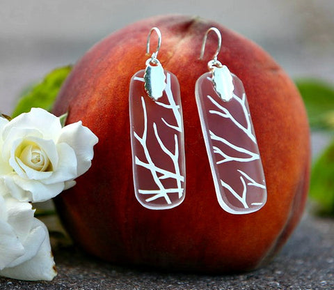 White Tree Earrings
