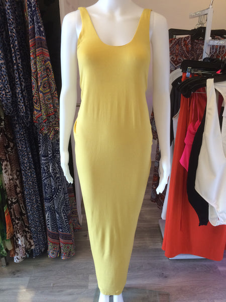 Just Two Girls...Caribbean Sun Maxi Dress Custard