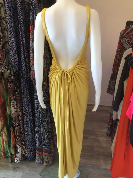 Just Two Girls...Caribbean Sun Maxi Dress Custard Back