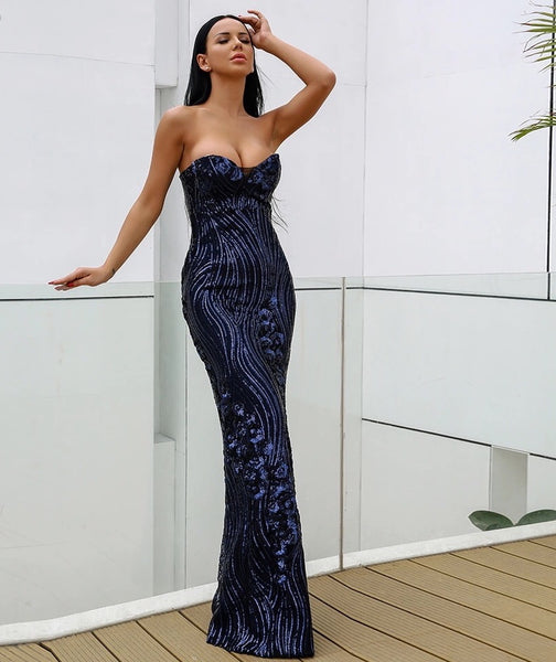 Just Two Girls... ISLA Midnight Blue Gown Alt