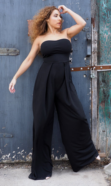 Just Two Girls... GWEN Black Jumpsuit Alt