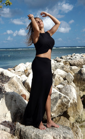 Just Two Girls... KAYLA 2-Piece Black Skirt Set