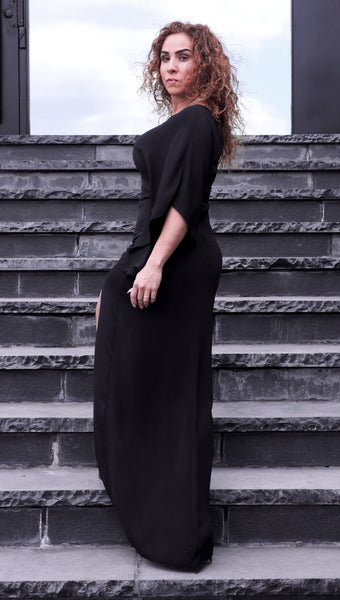 Just Two Girls... BREEZE Maxi Dress Black Back