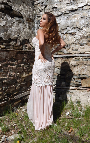 Just Two Girls... LULA Blush Lace Dress