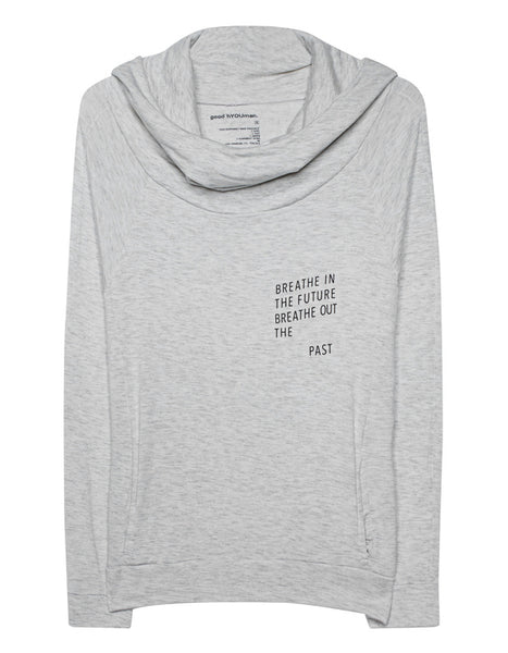 Just Two Girls... BREATHE IN THE PRESENT Sweatshirt Stock Front