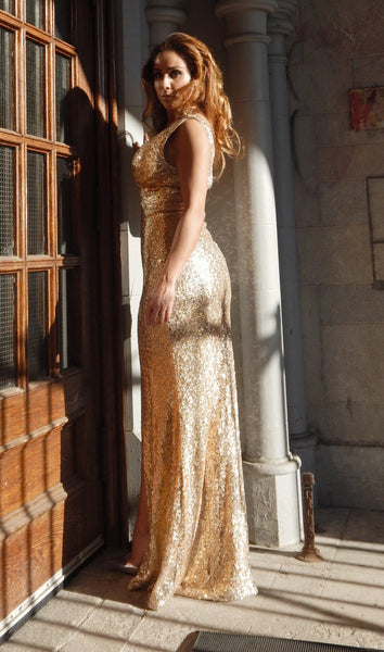 BRIGETTE Gold Dress