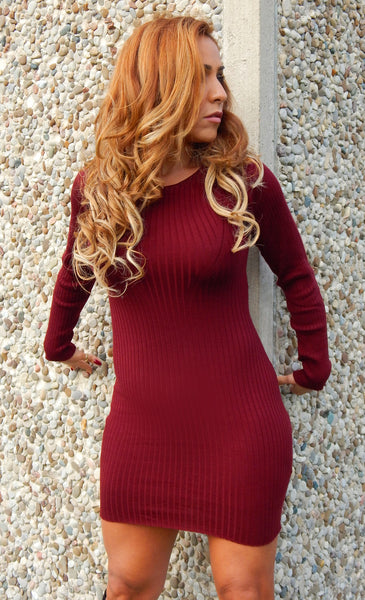 Just Two Girls...Ribbed Sweater Dress