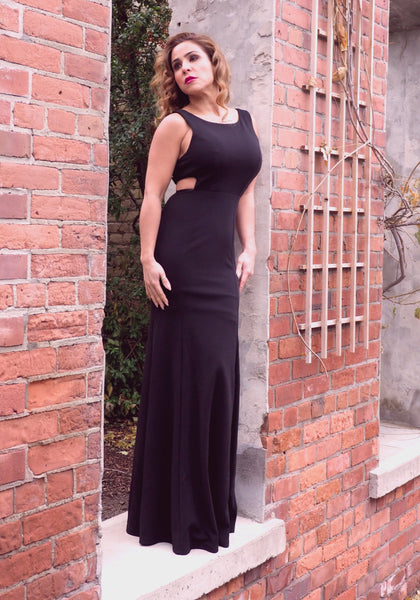 DEMI Black Evening Gown