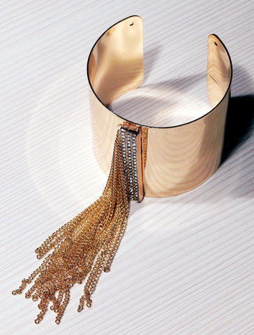 Just Two Girls...Gold Fringe Bracelet