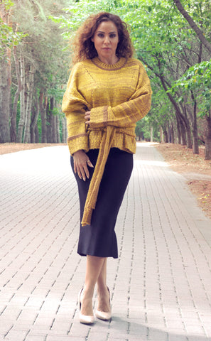 MELODY Golden Sweater