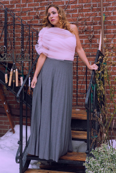 GREYSON Grey Pleat Skirt