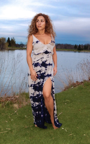 Just Two Girls...Blue Life High Tide Maxi Dress
