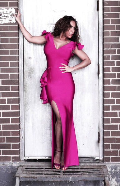 ANASTASIA Fuchsia Dress