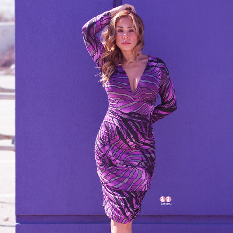 SANDRA Purple Dress