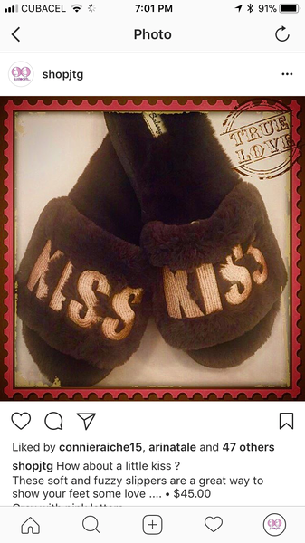 KISS Grey Slippers