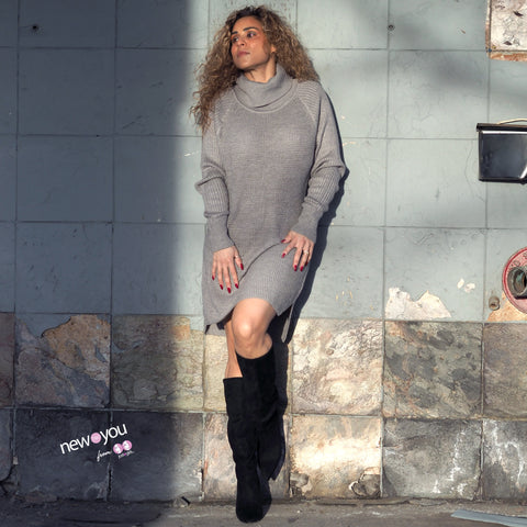 STEEL Grey Knit Dress