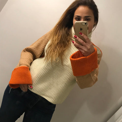 BLOCK Colour Knit Sweater