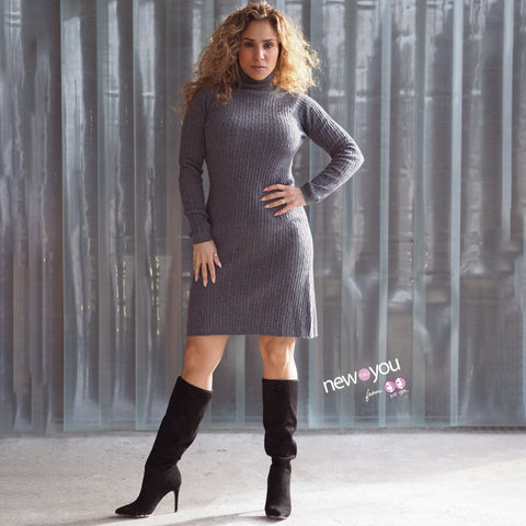 ZARA Grey Knit Dress