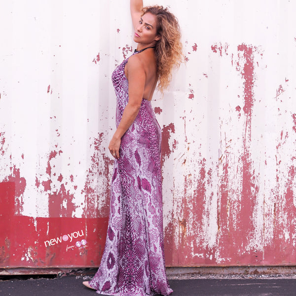 TEMPTED Animal Print Maxi Dress