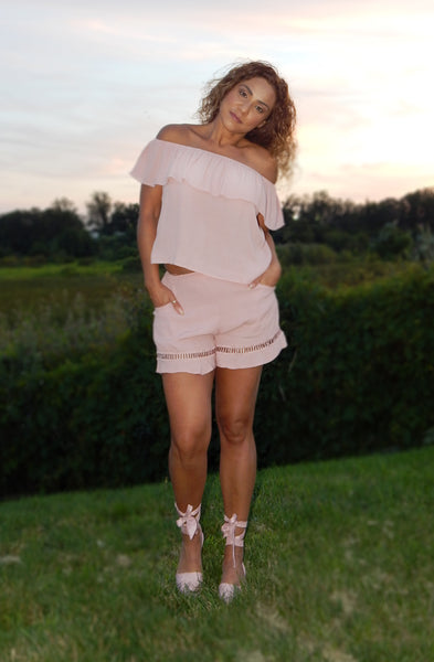 Just Two Girls... INDIE SUMMER Blush Top Front