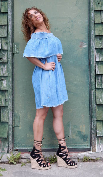 Just Two Girls... SERENE Denim Dress