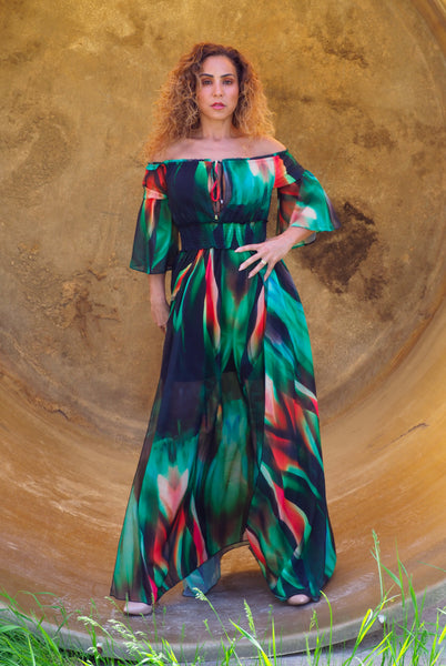 FARAH Multi-Colour Maxi Dress