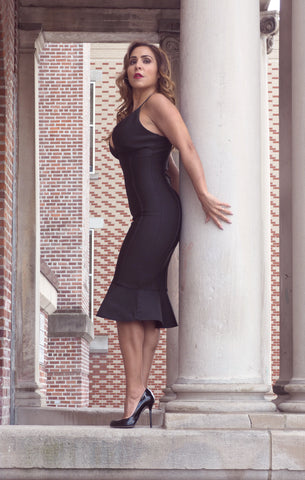 Just Two Girls... BRANDI Black Bandage Dress