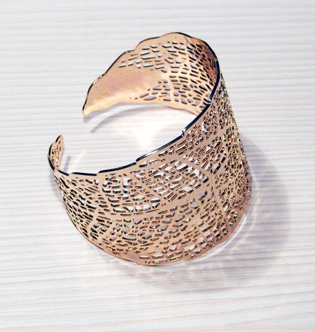 Just Two Girls...Laser Leaf Cuff Bracelet