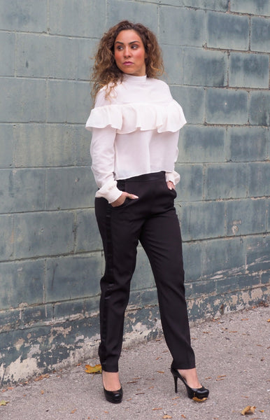 Just Two Girls... LEAVE A TRACE Ivory Blouse ALT