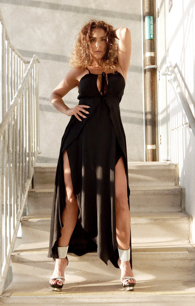 Just Two Girls... NIGHT HOUR Maxi Dress Black Detail