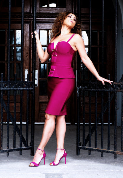 VERONA Fuchsia Dress