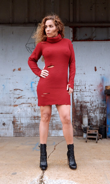 Just Two Girls... REDHOT Sweater Dress Alt