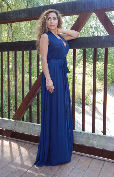 Just Two Girls... ROYALTY Navy Tank Maxi