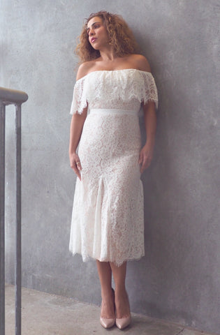 BLANCA White Lace Dress