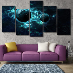 Pumpjack and Stars 5 Piece Canvas